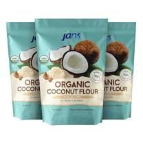 Jans Organic Coconut Flour 3.3 Lbs (3 Pack)   Gluten-Free   Certified Organic   Keto, Paleo, & Vegan Friendly