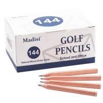"""Madisi Golf Pencils, 2 HB Half Pencils, 3.5"""" Mini Pencils, Pre-Sharpened, Natural Wood Grain Color, 144 Count"""