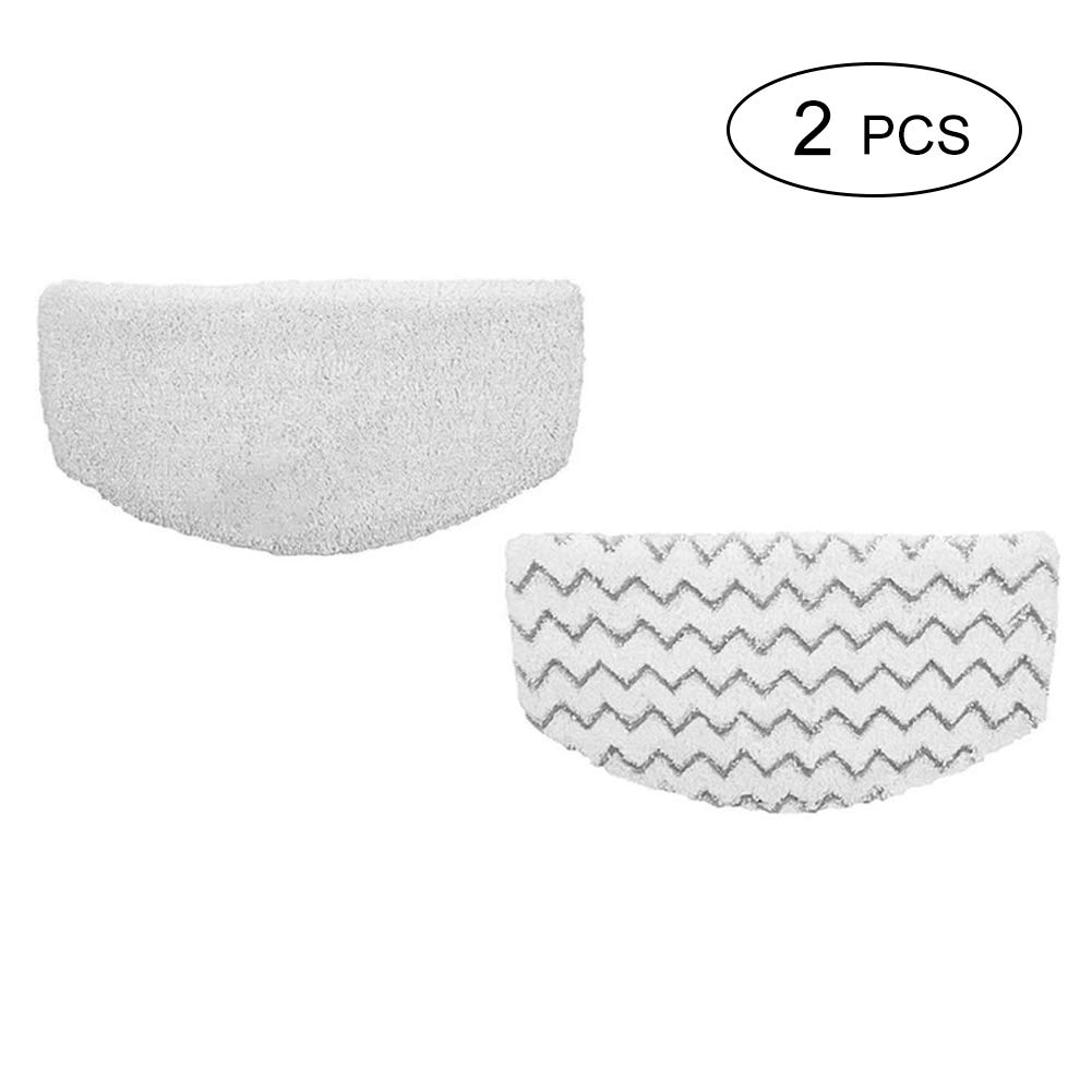 2 Pack Bissell Washable Microfiber Steam Mop Pads Replacement for Bissell Powerfresh Steam Mop 1940 1440 1544 1806 2075 Series, Models 19402 19404 19408 1940A 1940Q 1940T 1940W (2 Pack)