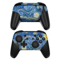 Starry Night Decalgirl Skin Sticker Wrap Compatible with Nintendo Switch Pro Controller