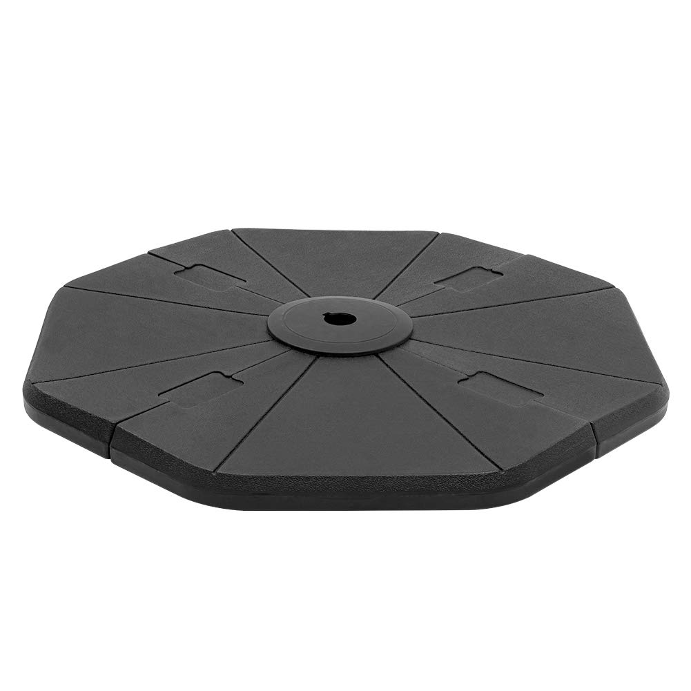 Crestlive Products 120 LBS 4Pcs Patio Offset Umbrella Base, Heavy Duty Plastic Cantilever Weights, Water & Sand Filled Octagon Umbrella Stand for Outdoor, Lawn, Garden (Black)