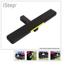 """APS iStep Universal 26"""" Black Aluminum Rear 2"""" Class 3 Hitch Mounting Step Hitchstep Rear Roof Rack Bumper Guard Protector"""