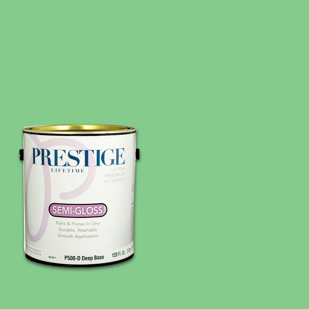 Prestige, Greens and Aquas 3 of 9, Interior Paint and Primer In One, 1-Gallon, Semi-Gloss, Irish Green