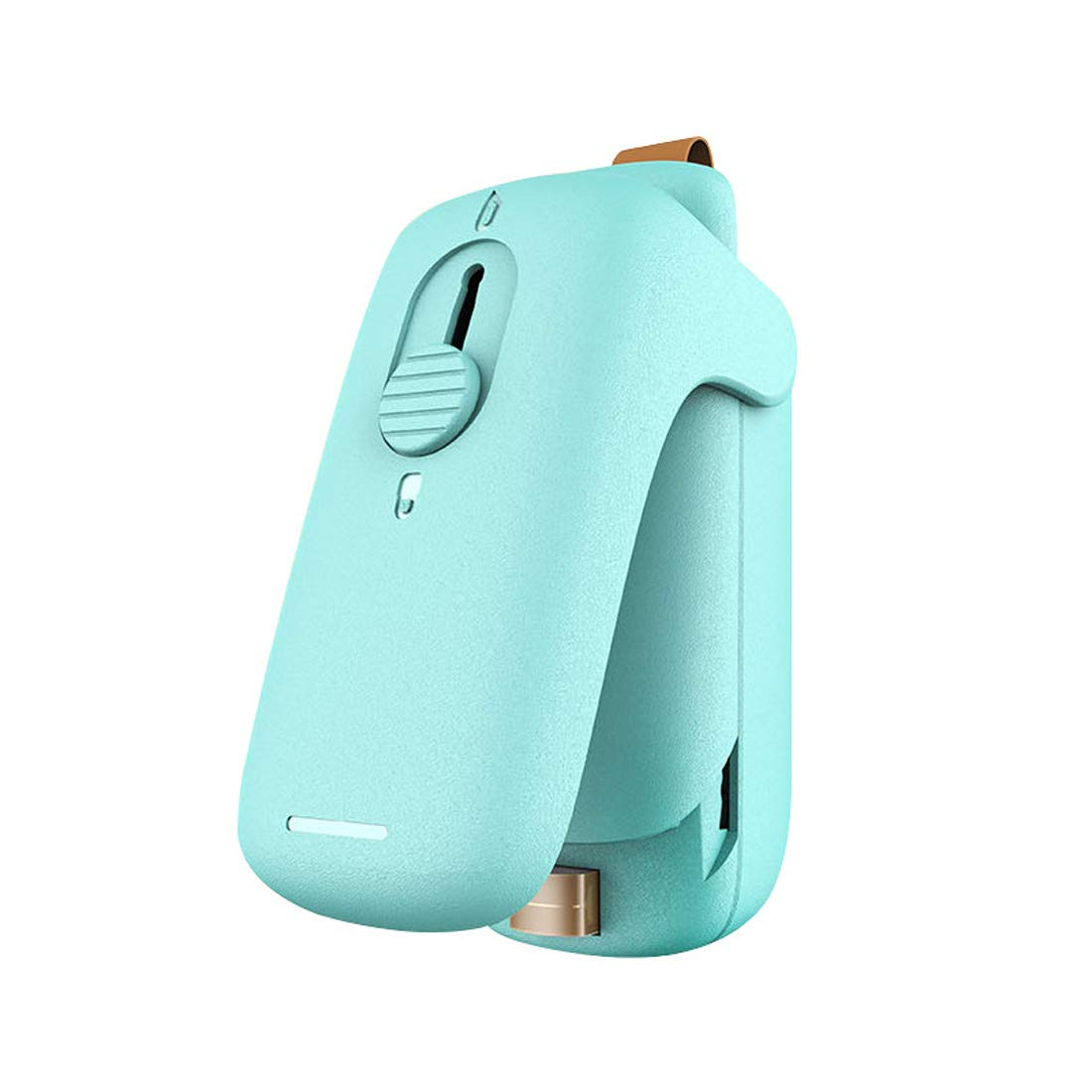 Mini Bag Sealer, Portable Handheld Heat Sealer with Cutter and Magnet, Mini Sealing Machine for Plastic Bags Food Storage Snack Potato Chips