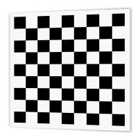 """3dRose ht_154527_1 Check Black and White Pattern Checkered Checked Squares Chess Checkerboard or Racing Car Race Flag Iron on Heat Transfer, 8 by 8"""""""