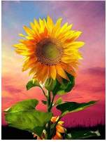 Diamond Painting by Number Kit, LPRTALK Adults Children 5D DIY Diamond Painting Full Round Drill Sunflower Embroidery for Wall Decoration 12X16 inches (Full Drill)