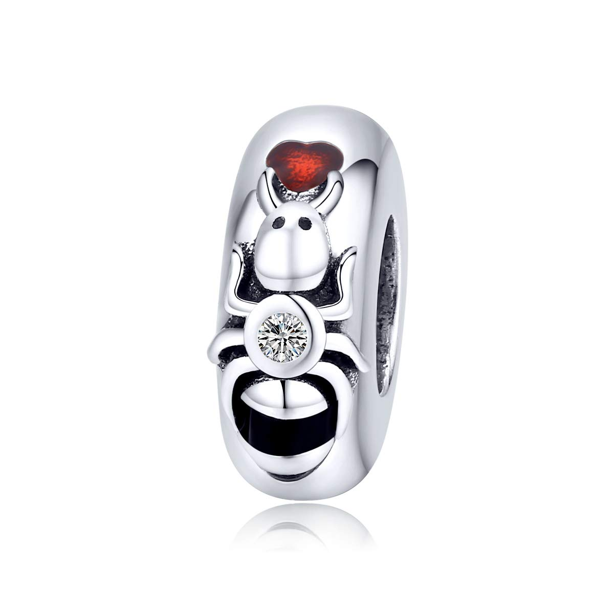 BAMOER Sterling Silver Charms for Women with Summer Insects Charm Sea Beads Fit Pandora Bracelets and Necklace