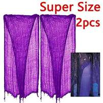 """zhihu 2 PCS Extra Large Long 15 Ft.- 25 Ft. 180""""-300"""" Creepy Super Size Giant Halloween Creepy Gray Black Purple White Cloth for Halloween Party Supplies & Decorations (180inch, Purple)"""