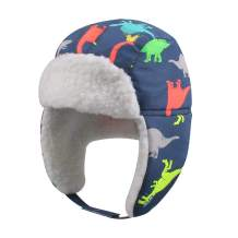 Winter Trapper Hat for Boys Girls Waterproof Warm Baby Toddler Ushanka Fleece Beanie Hats for 6M-6T