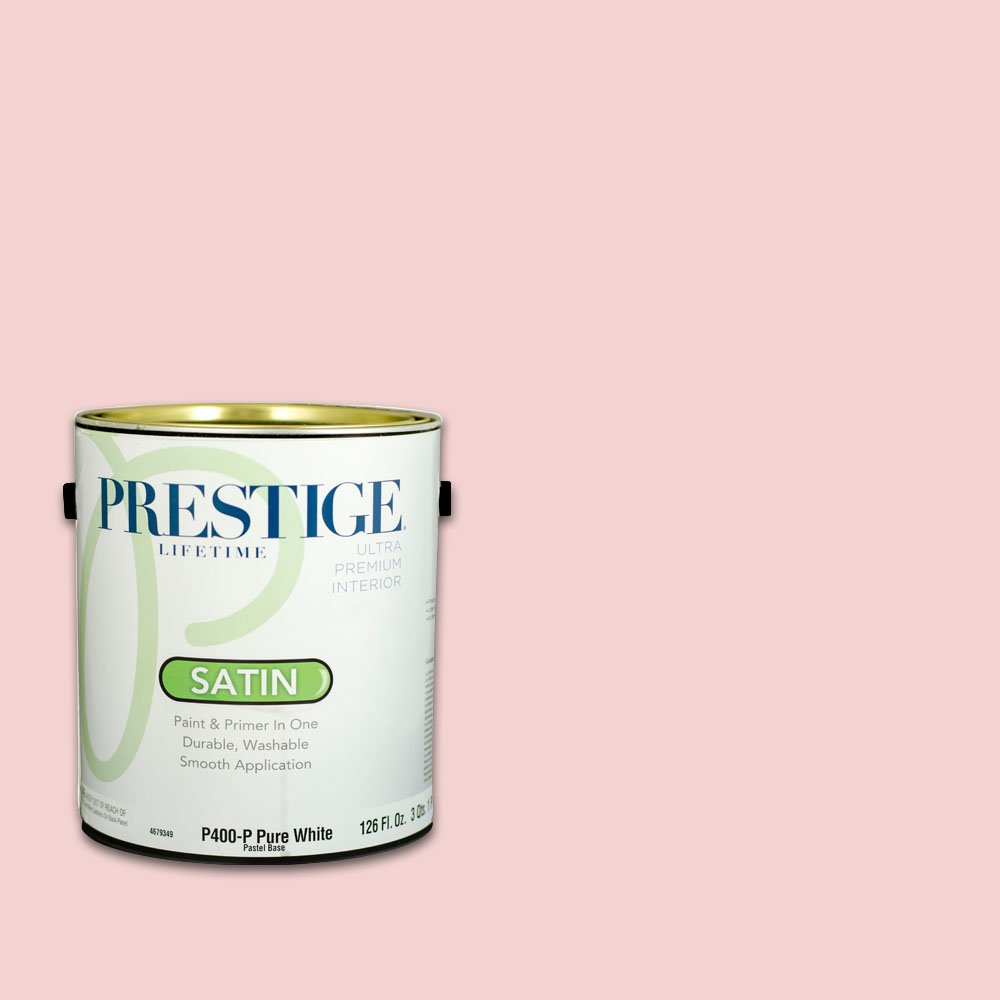 Prestige Interior Paint and Primer in One, 1-Gallon, Satin, Chiffon Pink