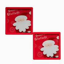 Coaster Christmas, funny housewarming gift for wine lover, Merry Christmas, protect your home from stains,Christmas gifts, Kitchen Counter Accent, Christmas 3D Coaster -Santa Claus- set of 2
