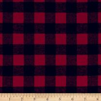 Richland Textiles 0442489 Yarn Dyed Flannel Check Red Black Fabric by the Yard