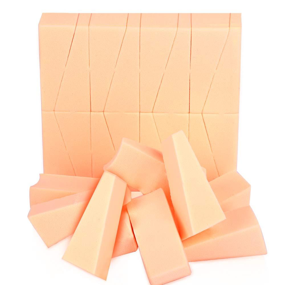 24Pcs Mini Makeup Sponges Wedges, Teenitor Latex Free Triangle Cosmetic Beauty Sponge Blenders Applicator For Liquid Cream Foundation Face Powder