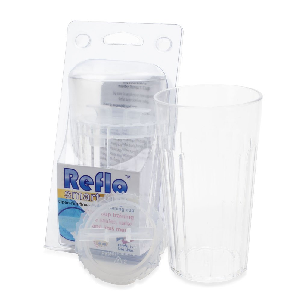 Reflo 360 Rotating Spoutless Training Cup for Baby, Kids and Toddlers (Clear)