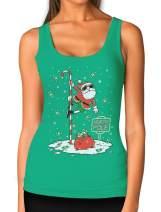 Santa North Pole Funny Ugly Christmas Women Tank Top