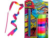 JA-RU Ribbon Wands Ribbon on a Stick for Dance Twirling Rod with Adjustable String Colorful Toys for Girls Party Favors Supplies   Item #2006-1