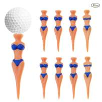 MYKUJA Golf Tees Bikini Girl Woman Sexy Lady 70mm(2.75inch) Plastic Golf Tees Fun Divot Tools Home Golf Training Golf Accessories Pack of 8