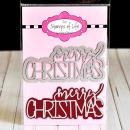 Merry Christmas Die Cuts for Card-Making and Scrapbooking Supplies by The Stamps of Life - Trendy Holiday Die Cuts