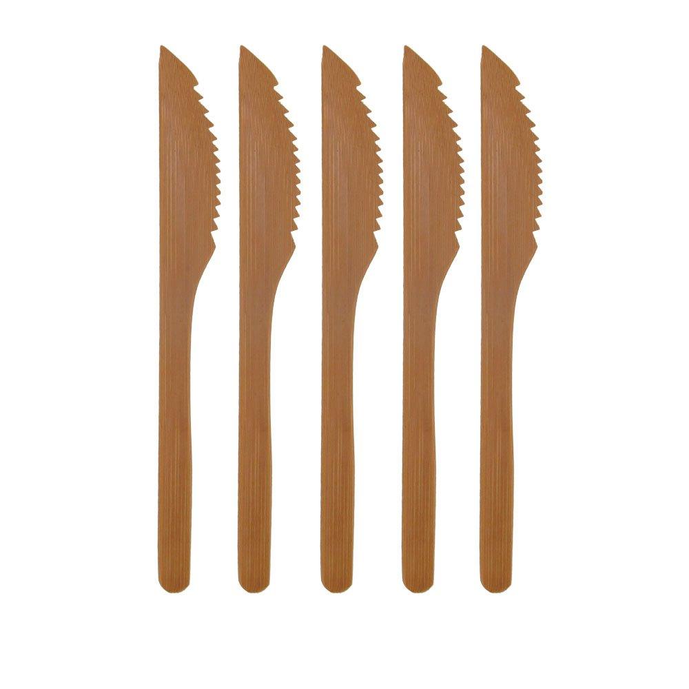 "BambooMN Brand - Solid Bamboo Dinner Knife 8"" - 100 pcs"