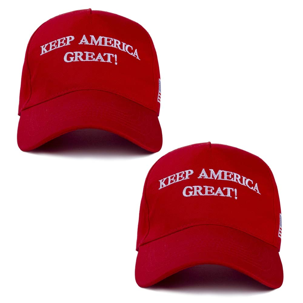 Keep America Great Hat, Donald Trump 2020 Hat Cap Adjustable Baseball Hat with USA Flag