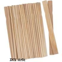 DIYARTZ Wooden Paint Stir Sticks, 100 Pack, Perfect for DIMixing Liquids. DIY Craft Sticks, Home Improvement, Natural Smooth Wood (14 inch)