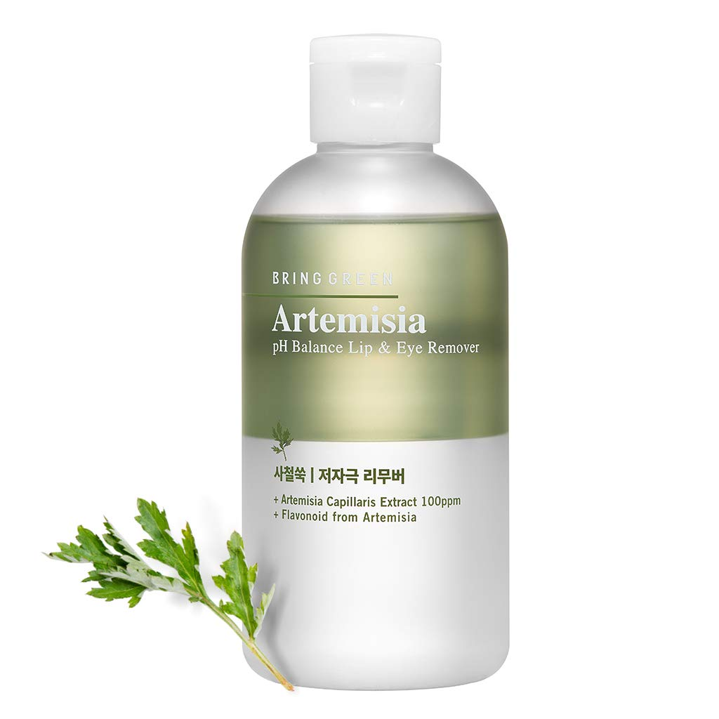 BRING GREEN Artemisia pH Balance Lip & Eye Remover 210ml (7.1 fl.oz.) - 2 Layderd with Soothing Artemisia Extract & Green Herb Oil, Mild Acidic Remover with a Great Cleansing Effect without Irritation