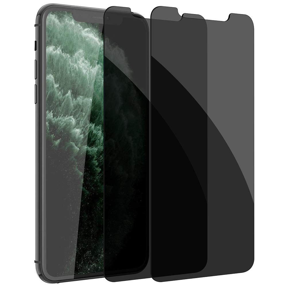 [2 Pack] Privacy Screen Protector for iPhone 11 Pro Xs X, LYWHL Anti-Spy Bubble Free Easy Install Case Friendly Tempered Glass Film for iPhone 11 Pro, iPhone Xs, iPhone X 5.8 Inch