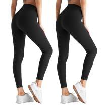 ZOOSIXX High Waisted Leggings for Women - Tummy Control Soft Opaque Slim Pants
