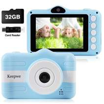 Kids Camera, Digital Camera for Kids, Camera for Kids Gifts 3-10 Year Old 3.5 Inch Large Screen with 32GB SD Card, Card Reader, 2019 Upgraded
