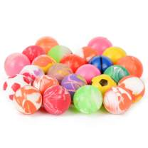 PROLOSO Bouncy Balls Bulk High Bouncing Play Toys for Kids Pets Party Favors Bag Fillers 24 Count