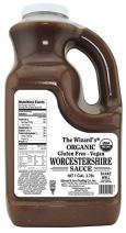 The Wizard's Sauces, Organic Gluten Free Vegan Worcestershire Sauce, Food Service Size, 128 Ounce Bottle