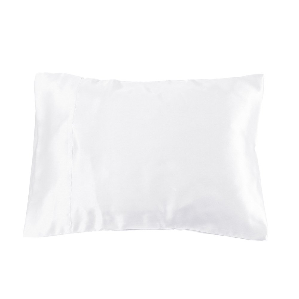 LilySilk Baby Toddler Silk Pillowcase - for Kids Bedding Real Mulberry Silk Soft 19 Momme Pillow Cover for Travel 1pc 12x16 White