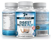 ProOne Nutrition Digestive Enzyme Plus Supplement - Pancreatin – Natural Probiotic Digestion Support & Nutrition Absorption, Relief for Gas & Bloating, Helps Leaky Gut Pancreatitis & IBS