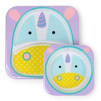 Skip Hop Baby Plate and Bowl Set, Melamine, Unicorn