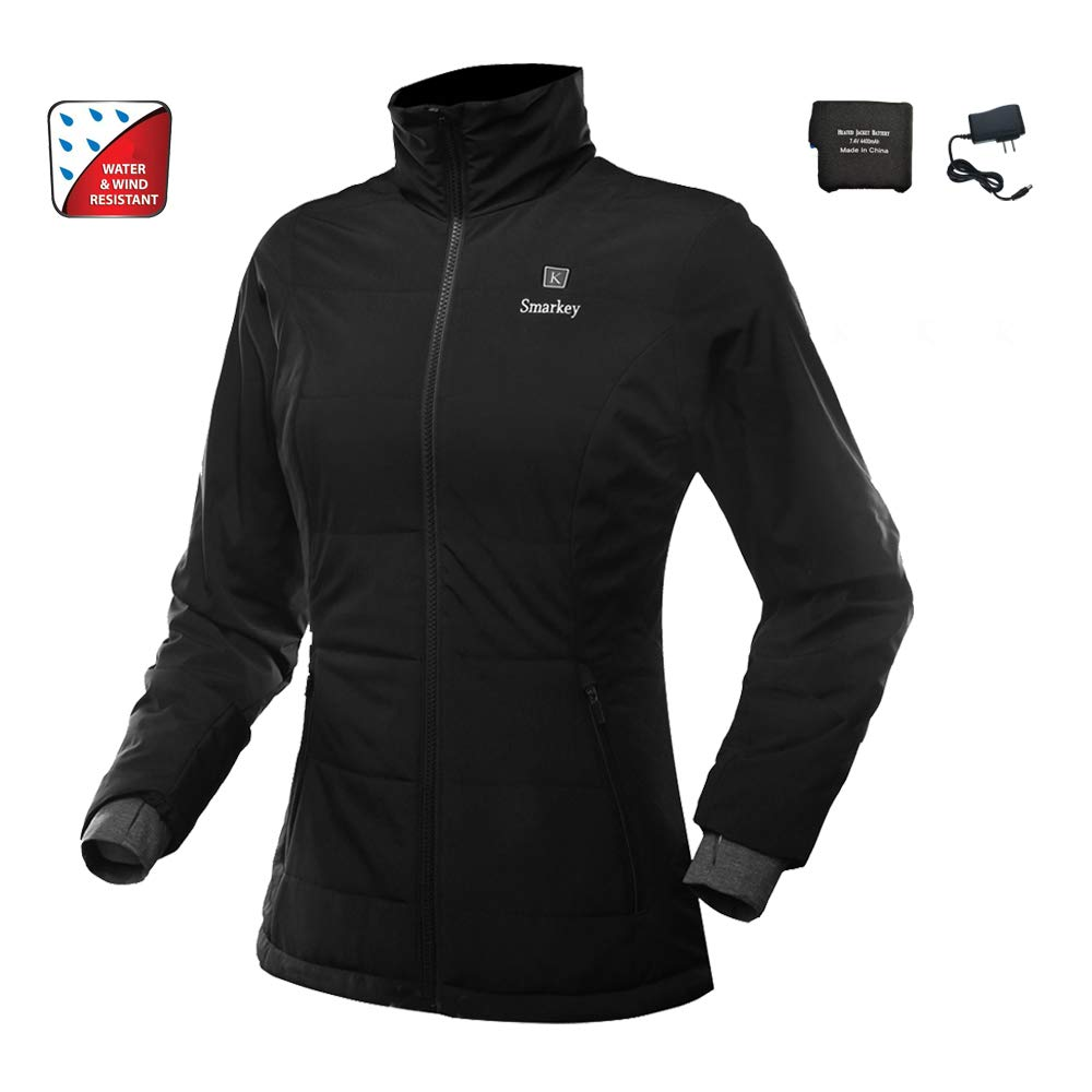 Smarkey Women Heated Jacket With 1pcs 4400mAh Battery And Charger For Winter Outdoor Wear (S)