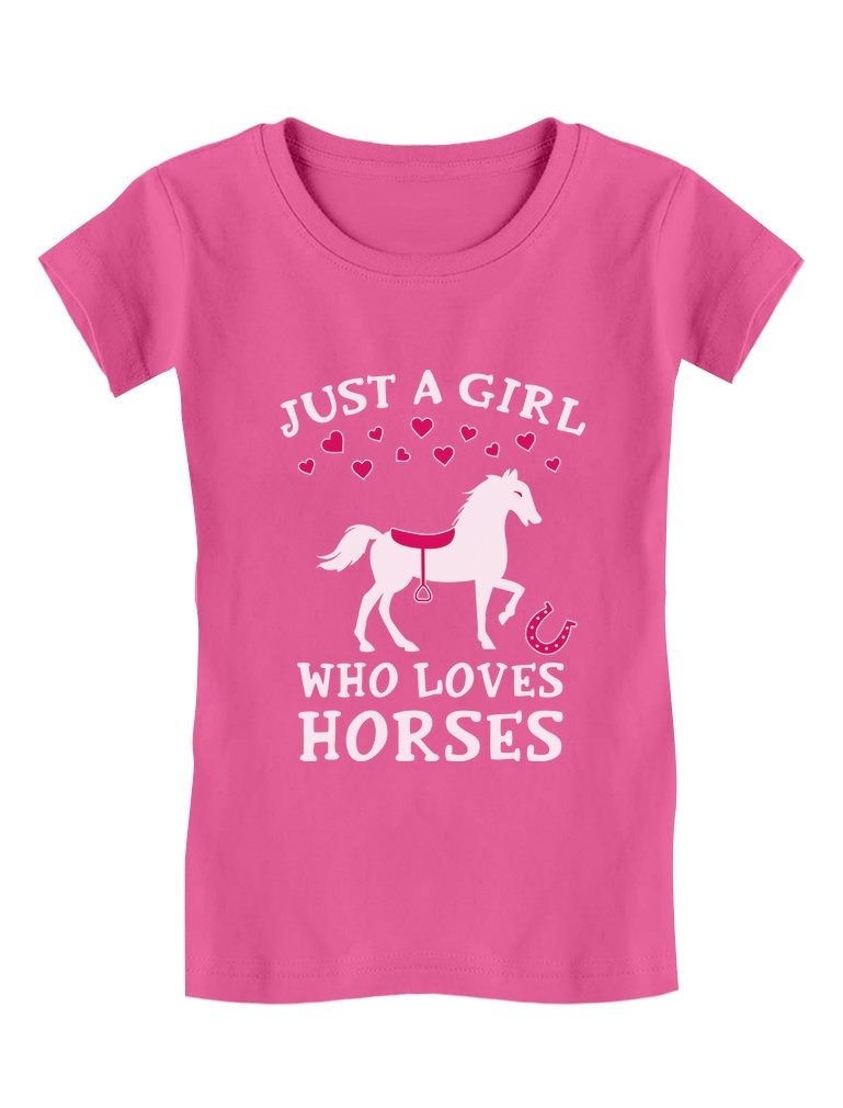 Just A Girl Who Loves Horses Horse Lover Gift Toddler/Kids Girls' Fitted T-Shirt