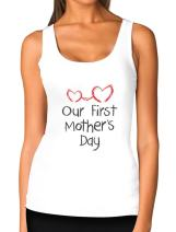 Our First Mother's Day Mom and Baby Women Tank Top