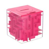 Money Maze Puzzle Box Gift- LightTheBo Money Puzzle, Funny and Cool Brain Teasers for Kids - Safe for Boys, Girls, Teens(Pink)