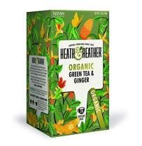 Organic Green Tea with Ginger| 20 bags per Pack| 100% USDA Certified Organic| Natural Ginger Flavoring With No Additives/Sugar| Vegan, Vegetarian, Allergen-Free, Kosher Chai