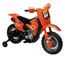 Vroom Rider VR098 Battery Operated 6V Dirt Bike, Orange