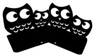 Perfect Mother's Day Gift One Pair Creative Cute Nonskid Owl Animal Art Bookends for Kids Girls Birthday Gifts(Black)