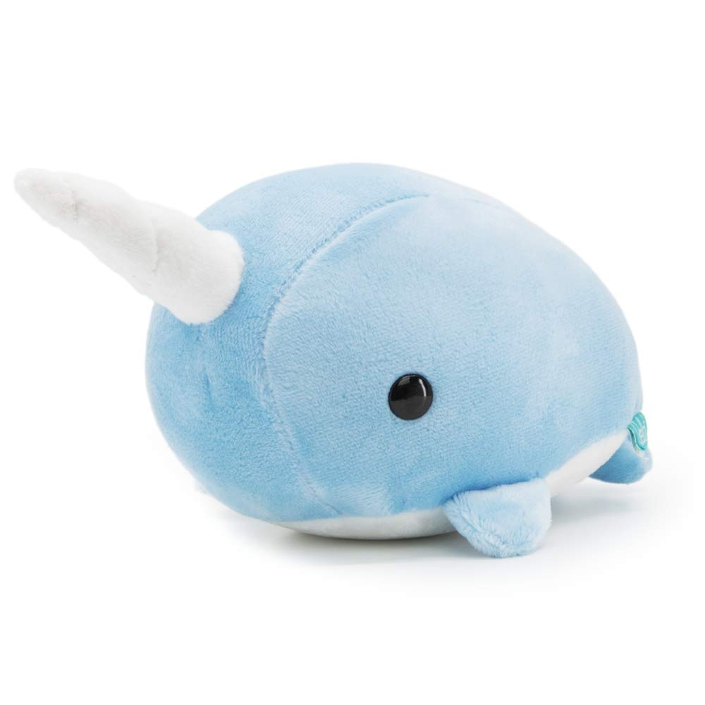 Bellzi Blue Narwhal Cute Stuffed Animal Plush Toy - Adorable Soft Whale Toy Plushies and Gifts - Perfect Present for Kids, Babies, Toddlers - Narrzi