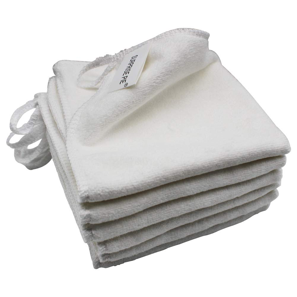 Microfiber Cleaning Cloth 6PCS White Reusable Wash Clothes for House Boat Car Window Cleaner 2PCS Screen Cloth as Gift
