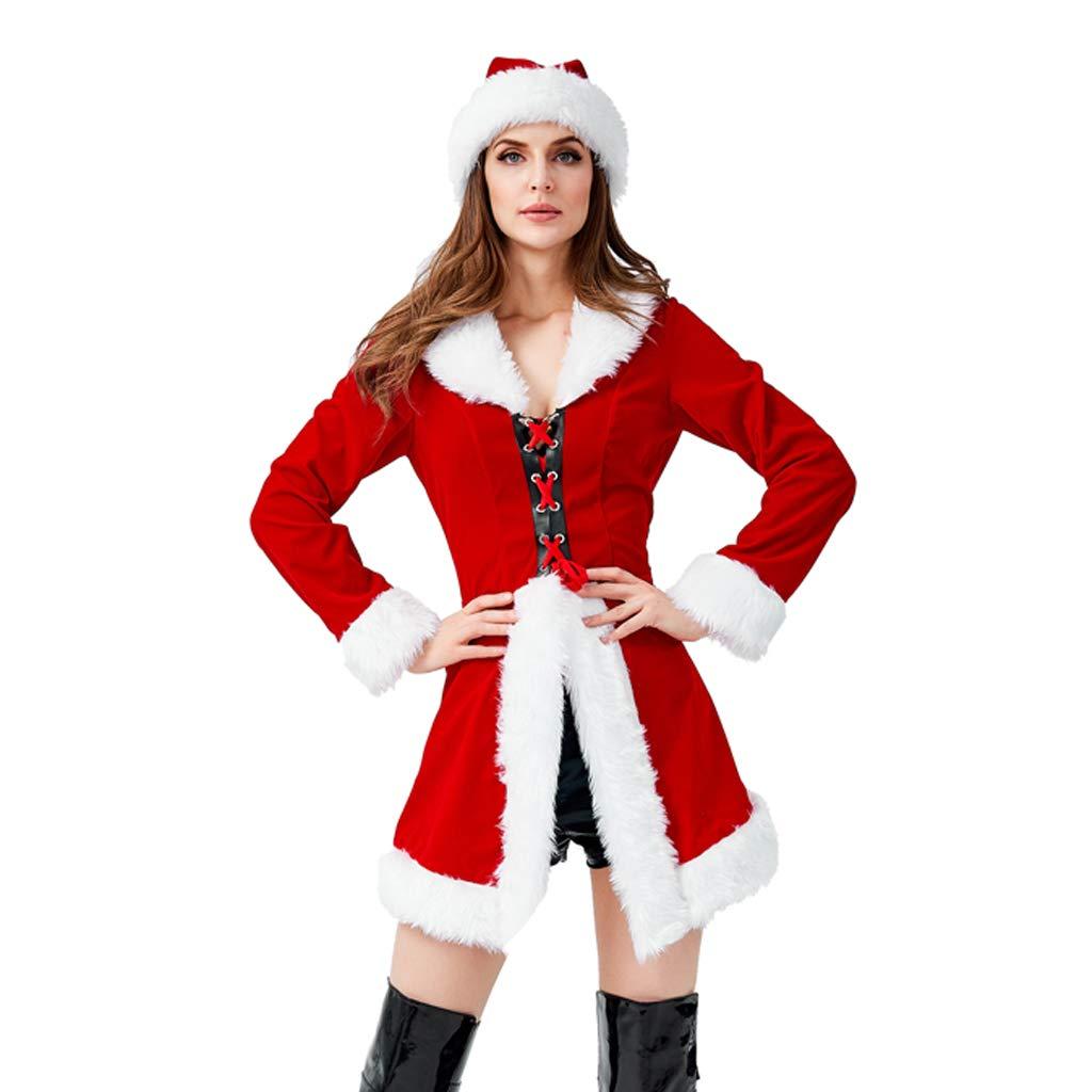 Charming House Women Mrs Claus Costume, Christmas Santa Helper Costume