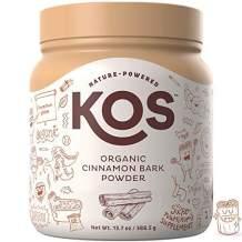 KOS Organic Cinnamon Bark Powder - Freshly Ground, True Ceylon Cinnamon Bark Powder - USDA Organic, Gluten Free, Promotes Healthy Blood Sugar Levels, Plant Based Ingredient, 388.5g, 111 Servings