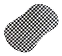 SheetWorld Fitted Bassinet Sheet (Fits Halo Bassinet Swivel Sleeper) - Black Gingham Check - Made In USA