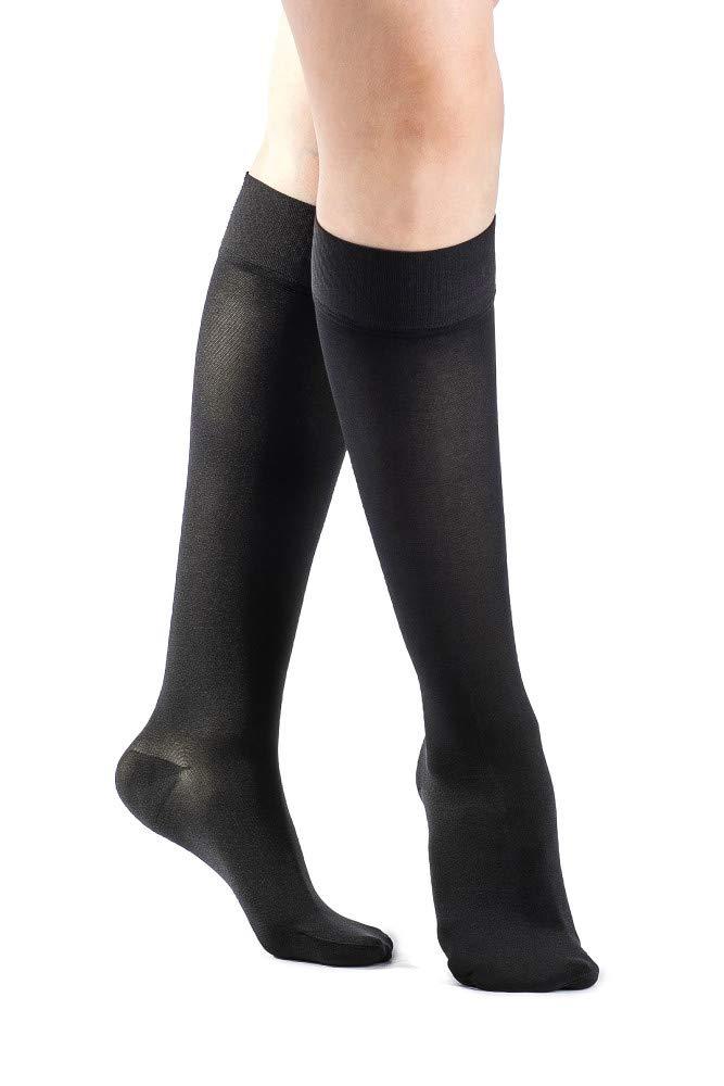SIGVARIS Women's Essential Opaque 860 Closed Toe Calf-High Socks 30-40mmHg