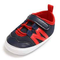 Baby Boys Shoes Boys Sneakers Soft Sole Prewalker Anti-Slip Shoes Infant First Walkers (0-6 Months) Red