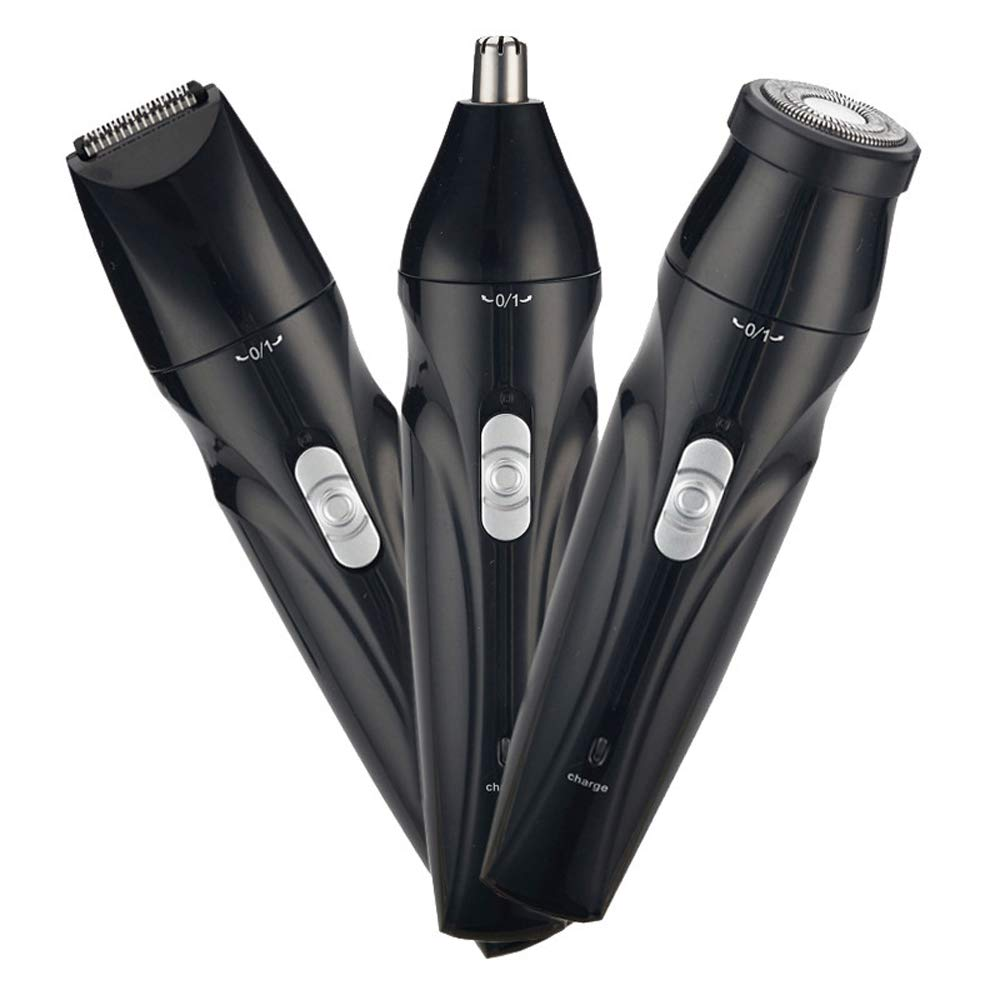 Men's Electric Shaver 3 with 1 Rotary Shaver Cordless Waterproof USB Quick Charge Wet/Dry Electric Shaver Includes Clipper and Nose Hair Trimmer Beauty Set Travel Rechargeable Shaver face Cleaner