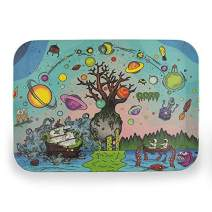"""Ooze Life - Biodegradable Rolling Tray - Chemical Free Bamboo Rolling Tray - Serving Tray - Decomposable Tray - Non-polluting Rolling Tray (Tree of Life, Medium 11"""" x 8"""")"""